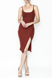 A Ellen Ribbed Midi Dress - Product Mini Image