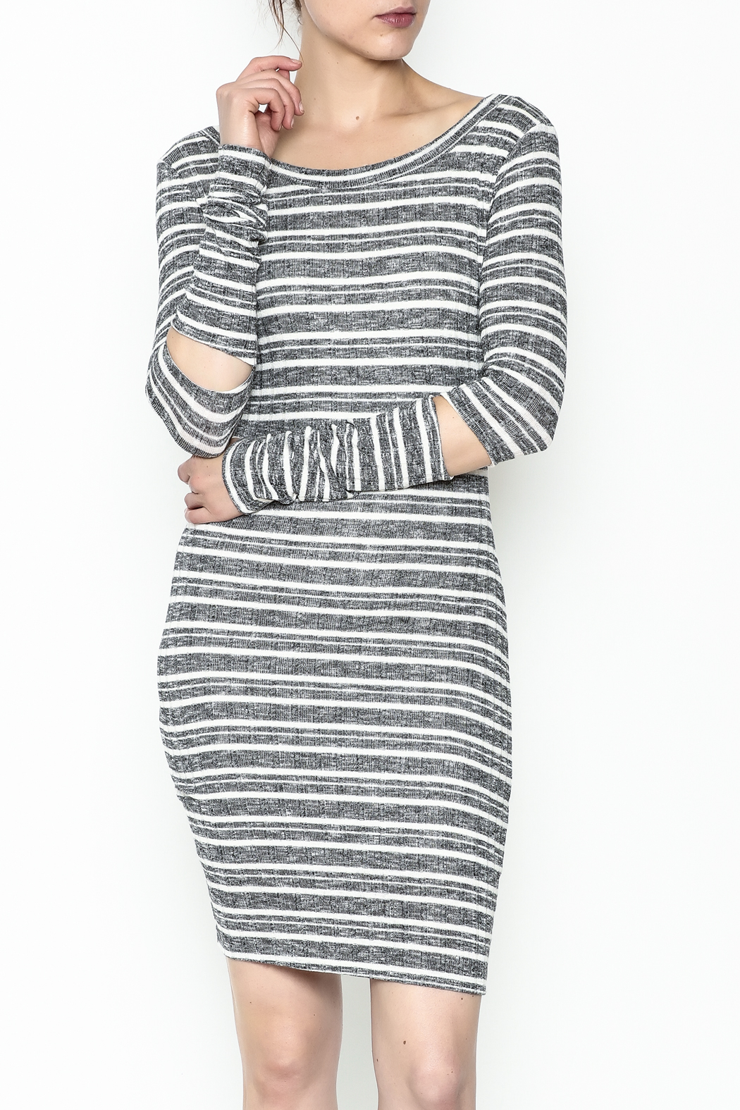 A Ellen Stripe Sweater Dress - Main Image