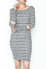 A Ellen Stripe Sweater Dress - Front cropped