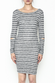 A Ellen Stripe Sweater Dress - Front full body
