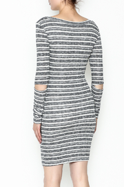 A Ellen Stripe Sweater Dress - Back cropped