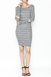 A Ellen Stripe Sweater Dress - Side cropped