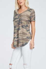 a.gain Camo Tee - Front full body