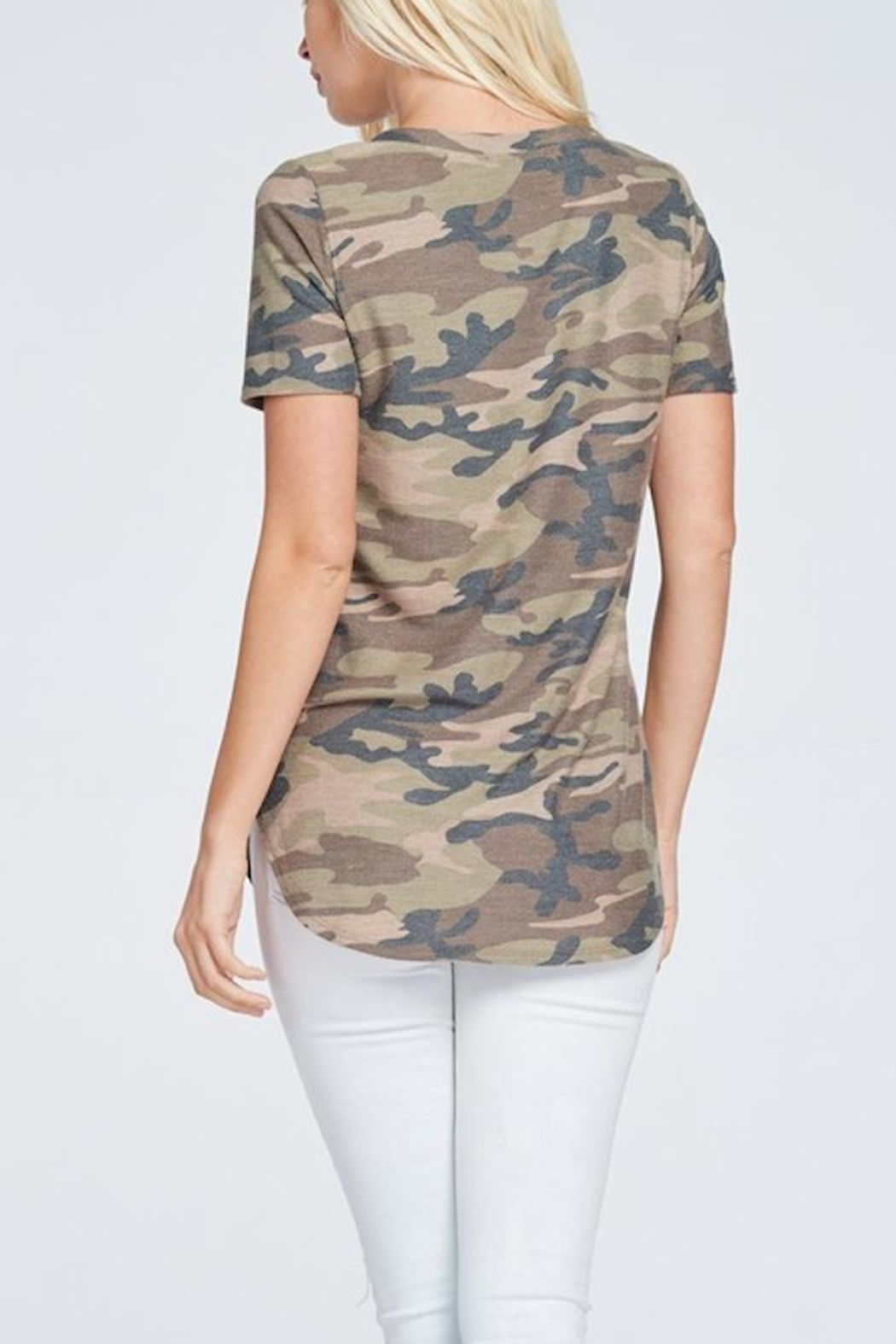 a.gain Camo Tee - Side Cropped Image