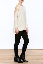 a.gain Grey Tunic Top - Front full body