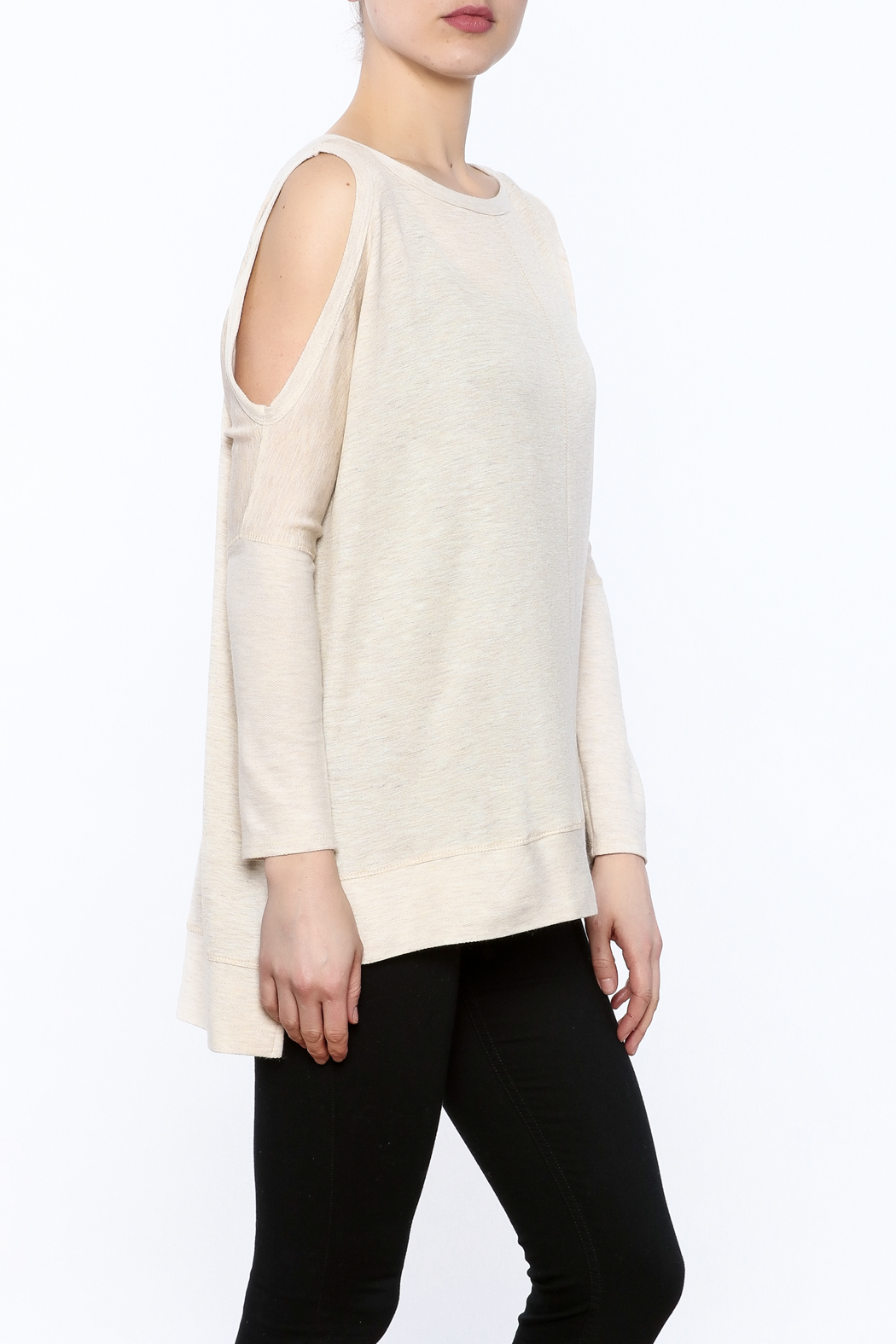 a.gain Grey Tunic Top - Front Cropped Image