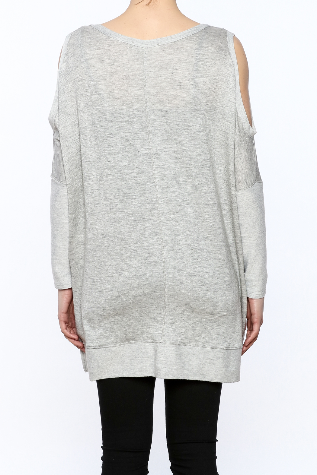 a.gain Grey Tunic Top - Back Cropped Image