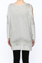 a.gain Grey Tunic Top - Back cropped