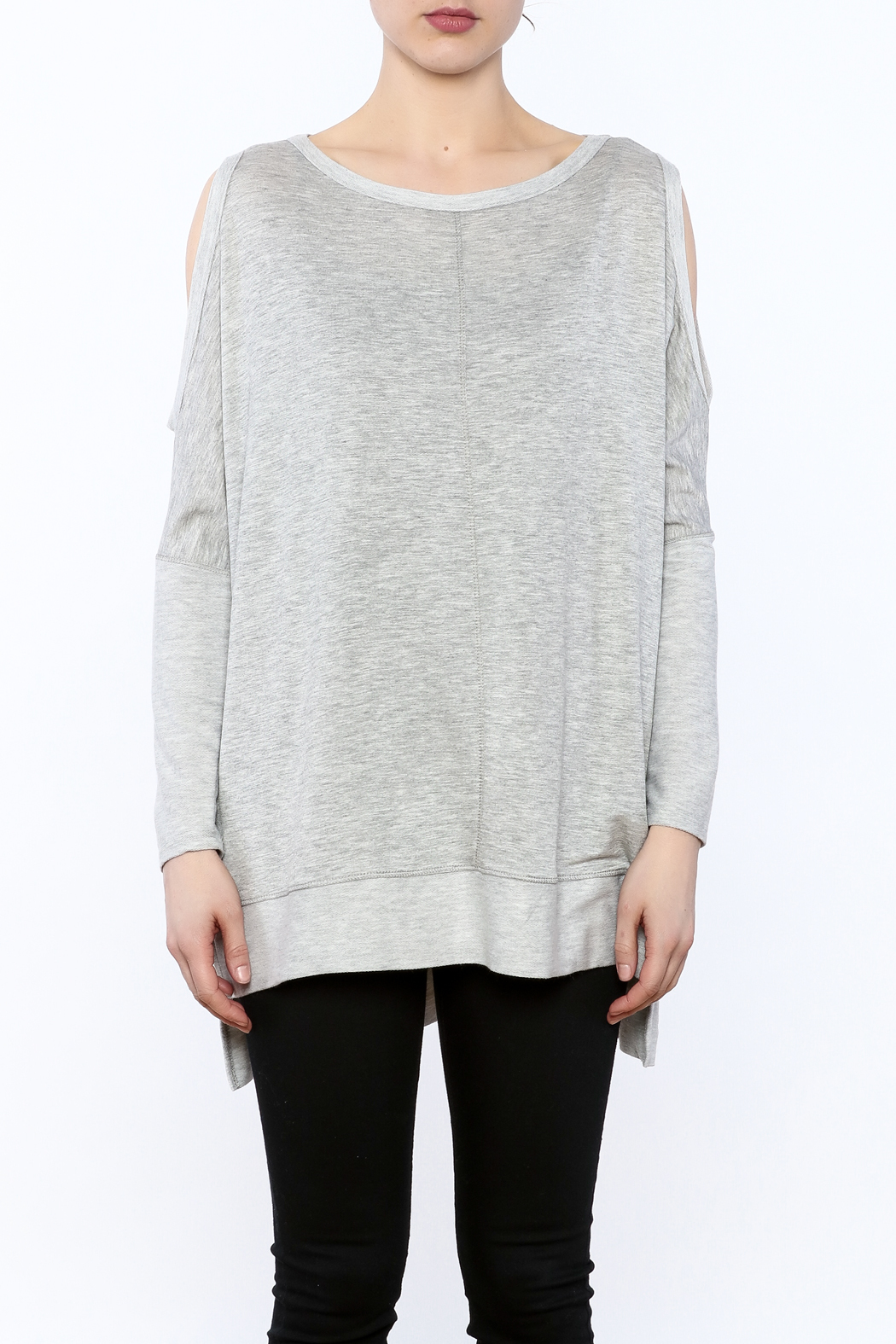 a.gain Grey Tunic Top - Side Cropped Image