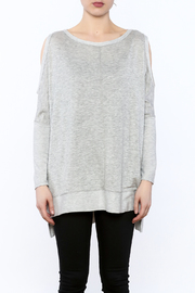 a.gain Grey Tunic Top - Side cropped