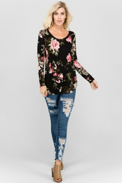 a.gain Floral Long-Sleeve Top - Product List Image