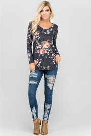 a.gain Floral V-Neck Top - Back cropped
