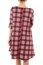 a.gain Red Plaid Dress - Front cropped