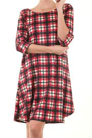 a.gain Red Plaid Dress - Front full body