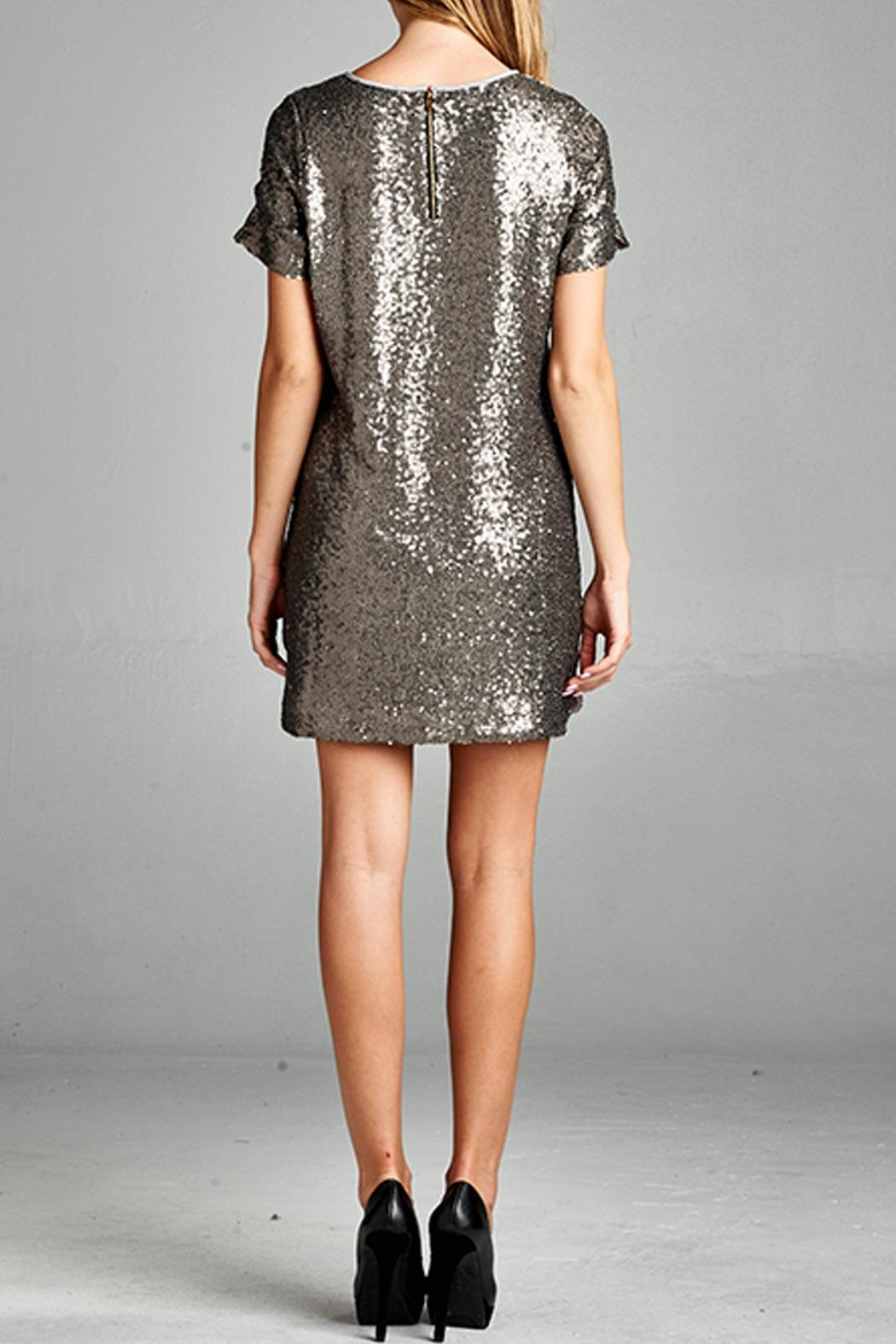 a.gain Sequin Dress - Front Full Image