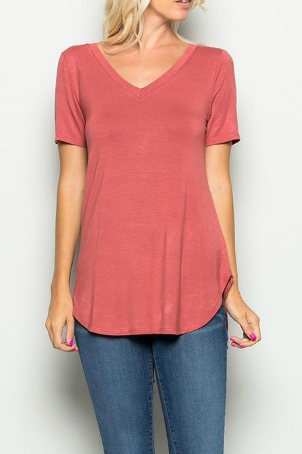 a.gain Soft Jersey Tee - Front Cropped Image