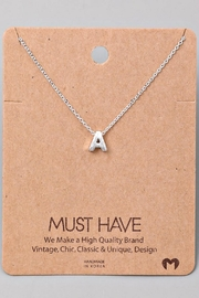 Fame Accessories A-Initial Pendant Necklace - Product Mini Image