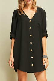 Entro A-line button up dress - Front cropped
