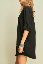 Entro A-line button up dress - Front full body
