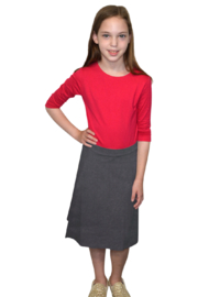 Kosher Casual A-line Cotton Lycra Knee Length Skirt for Girls - Product Mini Image