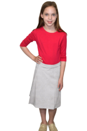 Kosher Casual A-line Cotton Lycra Knee Length Skirt for Girls - Front cropped