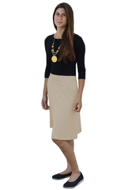 Kosher Casual A-line Cotton Lycra Knee Length Skirt for Women - Product Mini Image