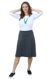 Kosher Casual A-line Cotton Lycra Knee Length Skirt for Women - Front cropped