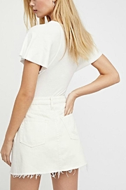 Free People A-Line Denim Skirt - Front full body
