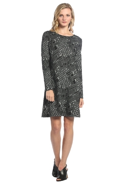 Neesha  A-Line flare dress with textured pattern - Product List Image