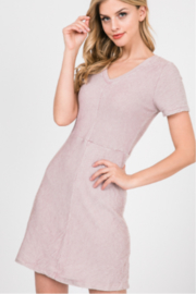 Lazy Sundays A-Line Knit Short Sleeve Dress - Product Mini Image
