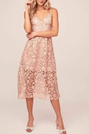 ASTR A Line Lace Midi Dress - Front cropped