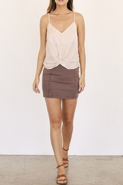 Mustard Seed A-Line Mini Skirt - Back cropped