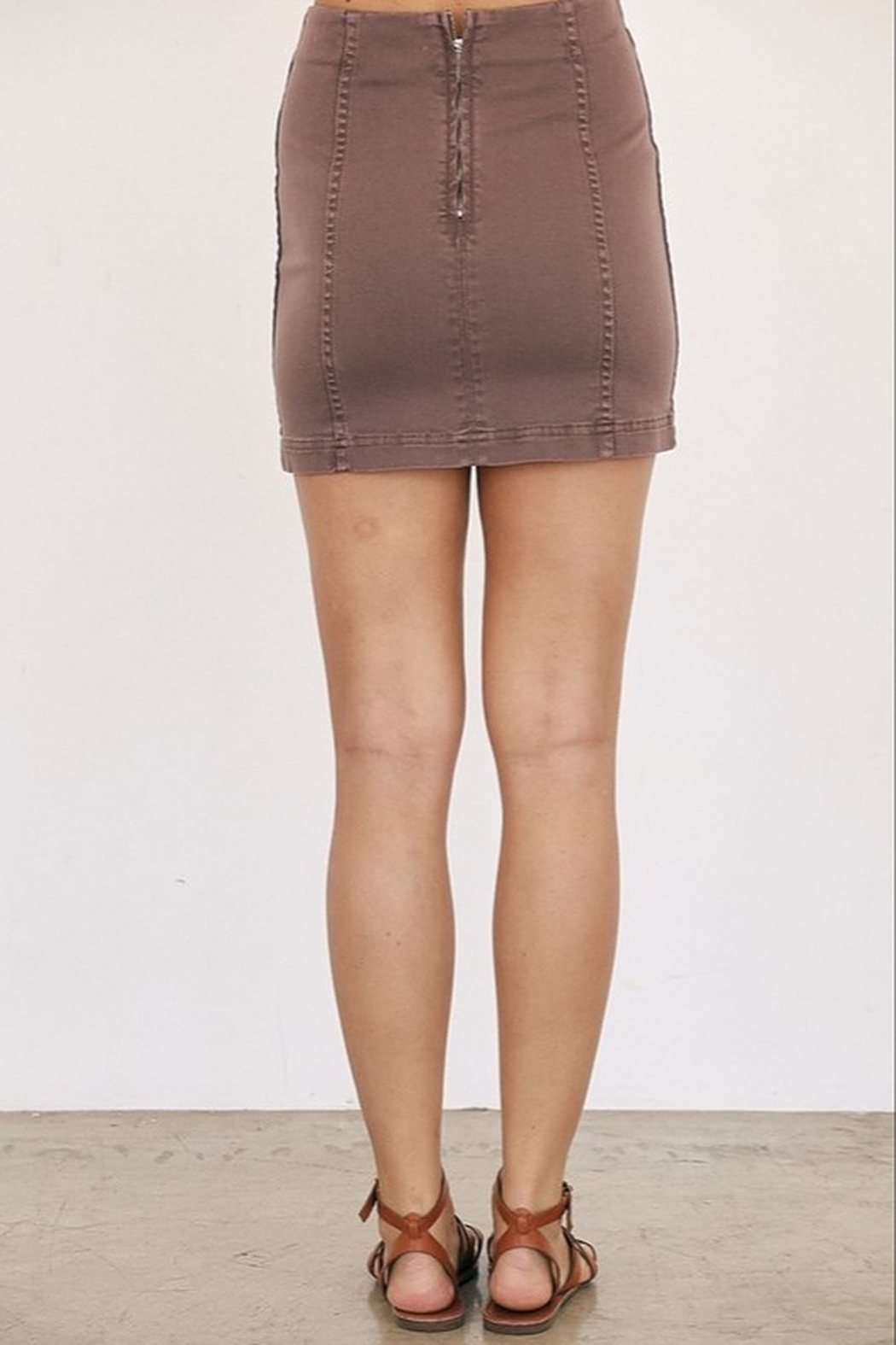 Mustard Seed A-Line Mini Skirt - Front Full Image
