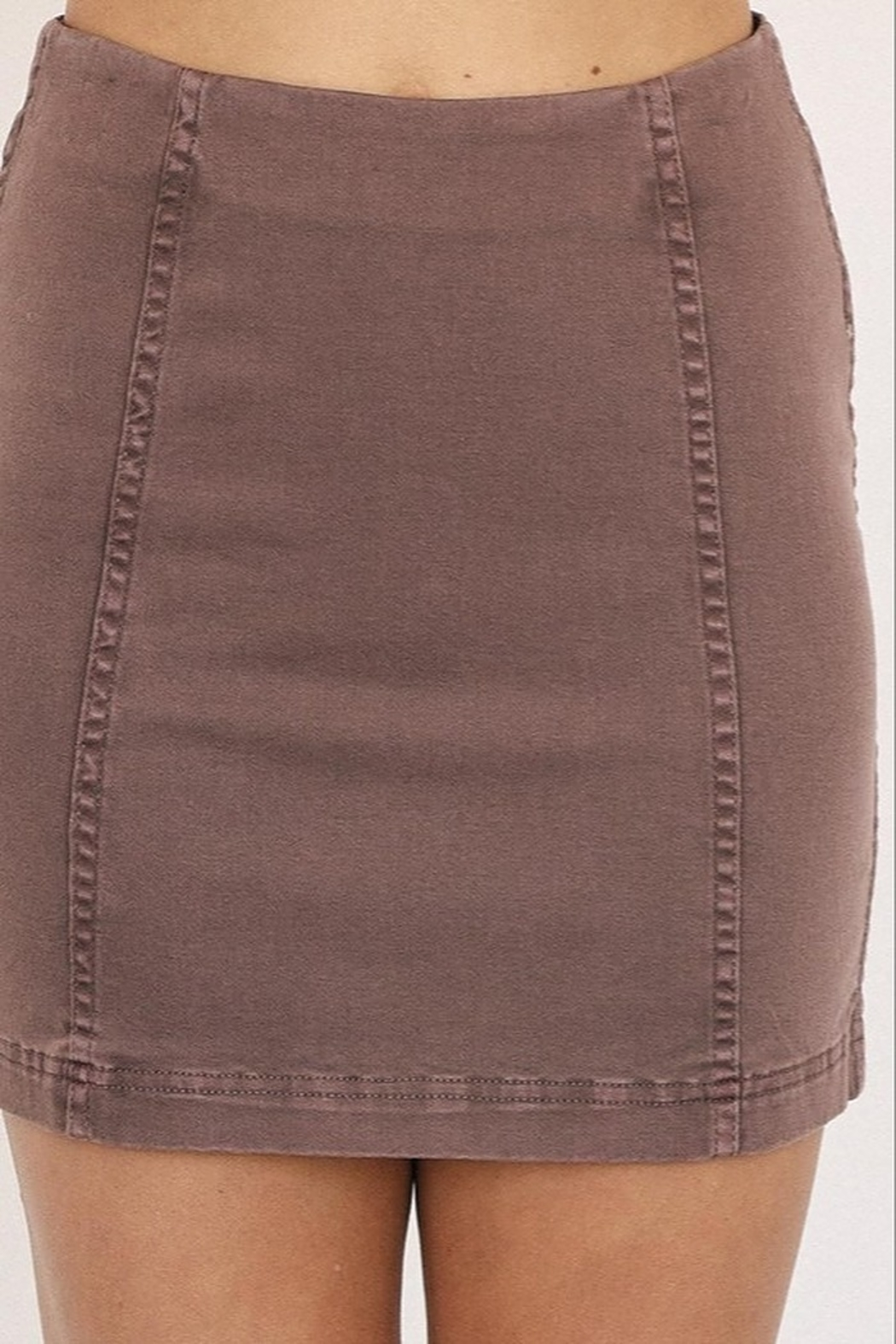 Mustard Seed A-Line Mini Skirt - Side Cropped Image
