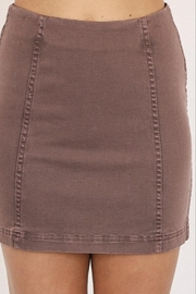 Mustard Seed A-Line Mini Skirt - Side cropped