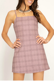 She + Sky A-line plaid dress - Product Mini Image