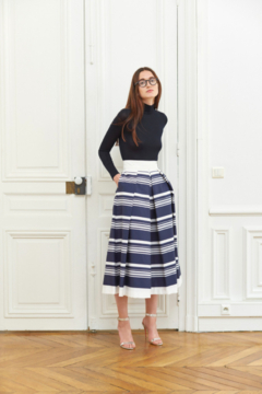 Martin Grant A-LINE PLEATED SKIRT - Product List Image
