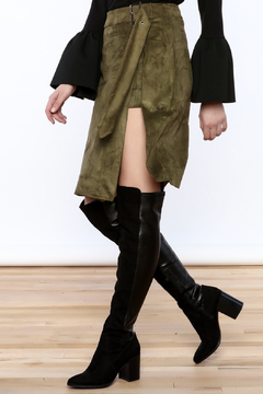 Shoptiques Product: Olive Wrap Skirt