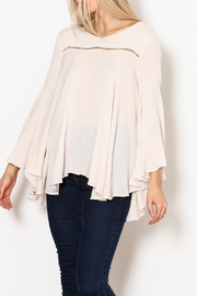 A.N. Designs Bell-Sleeve Flowy Blouse - Product Mini Image