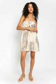 Olivaceous  A Natural Beauty soft Animal Print Summer Dress - Front cropped
