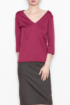 A'Nue Ligne V Neck Top - Product List Image