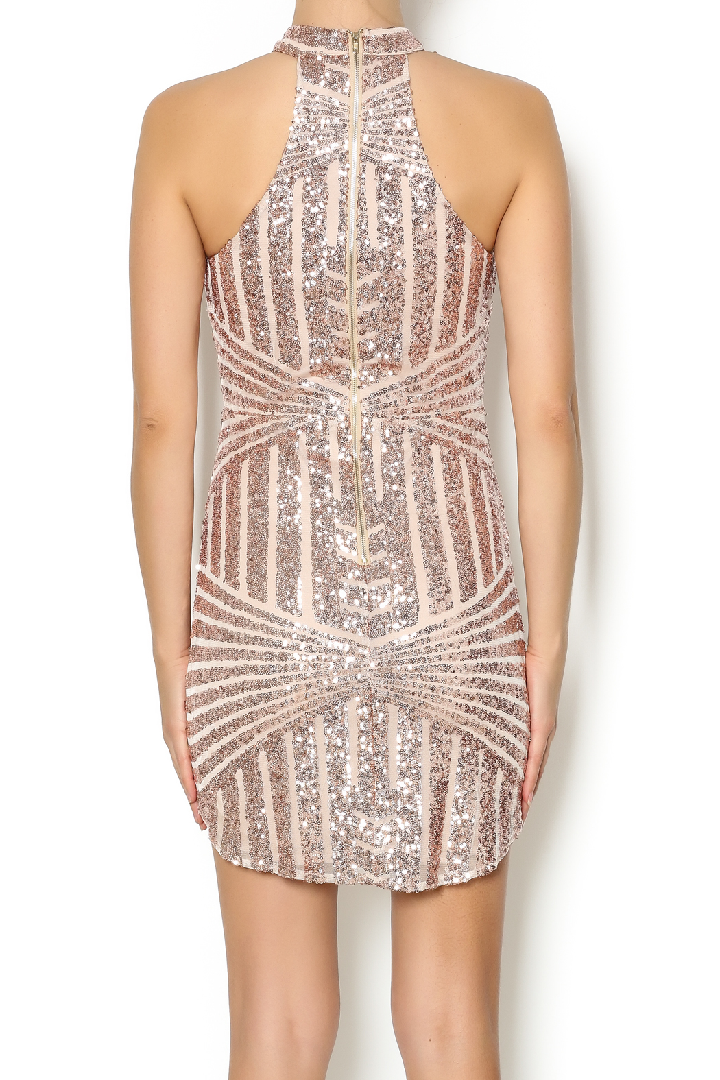 A Peach Bronze Sequin Dress From New York By Dor L Dor