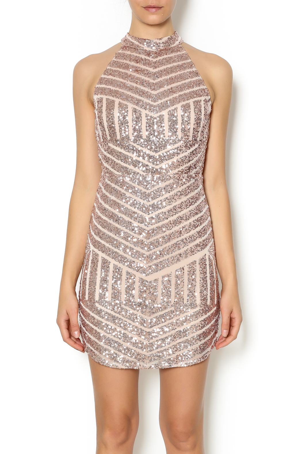 Bronze Sequin Dress What Shoes