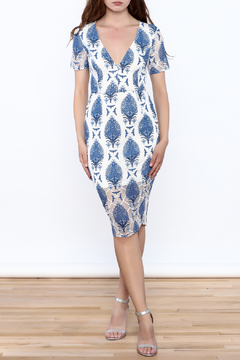 A Peach Blue Boho Bodycon Dress - Product List Image
