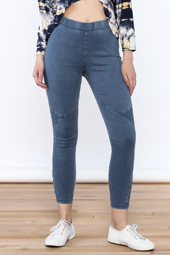 A Peach Casual Denim Jeggings - Product List Image