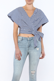 A Peach Stripe Crop Top - Product Mini Image
