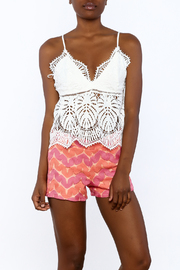 A Peach White Crochet Top - Product Mini Image