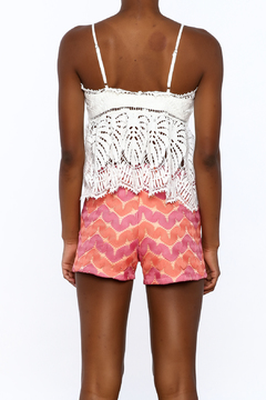 A Peach White Crochet Top - Alternate List Image