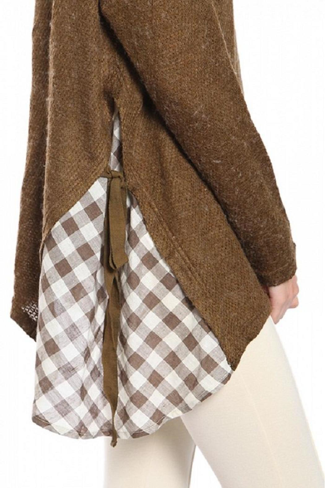 A'reve Brown Sweater - Side Cropped Image