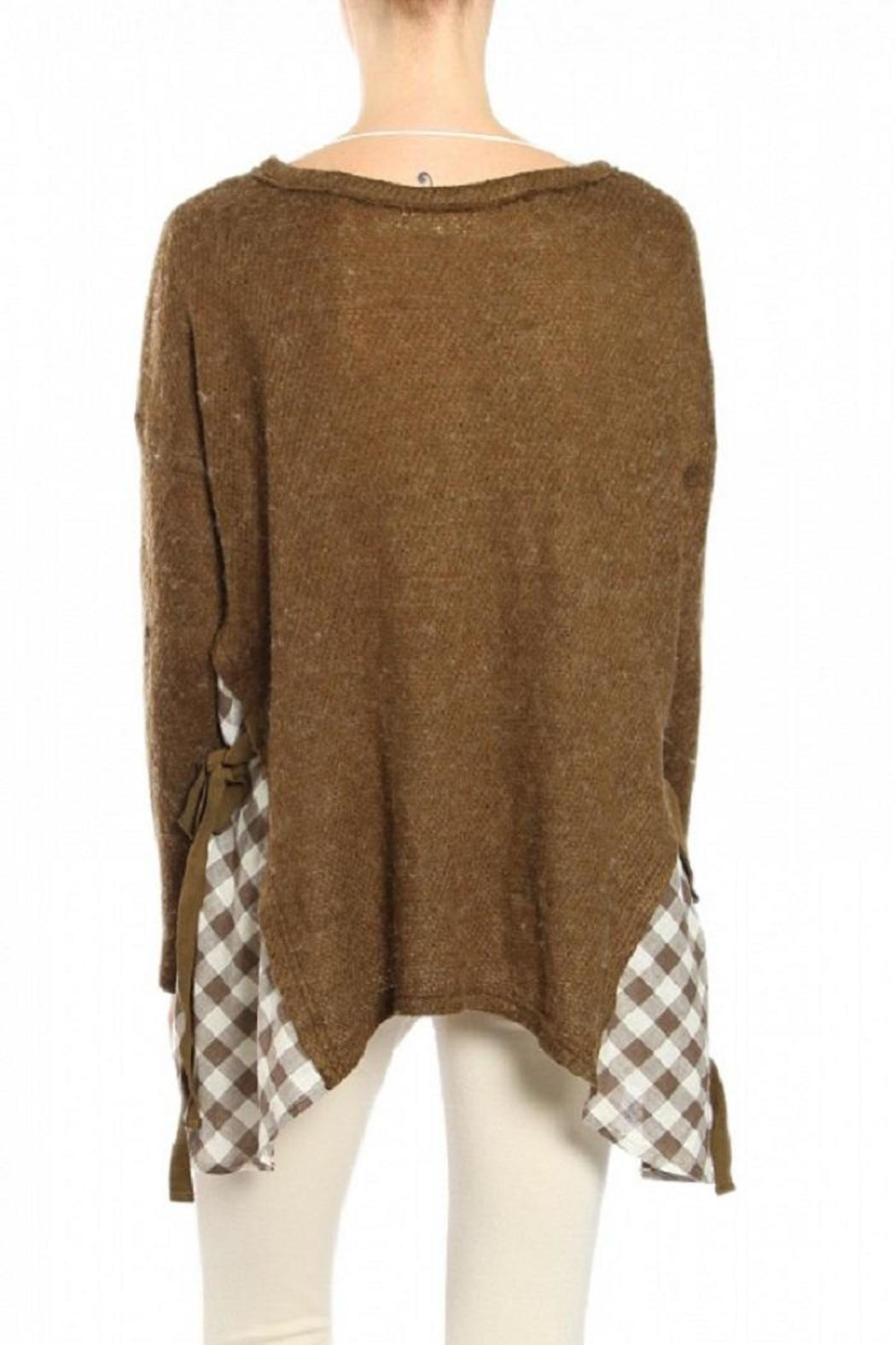 A'reve Brown Sweater - Front Full Image